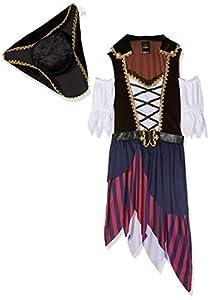 Wonderland W5041205101 Pirate - Disfraz de Capitán para mujer, multicolor, talla S/M (EUR 36-38)