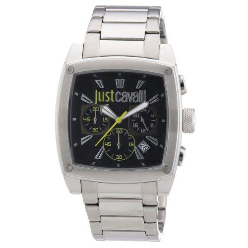 Just Cavalli Hombres de pulpa Cronógrafo Negro Dial reloj