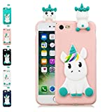 LA-Otter Coque iPhone 6S Plus 6 Plus Rose Licorne Ultra Fine Slim Mince Silicone TPU...