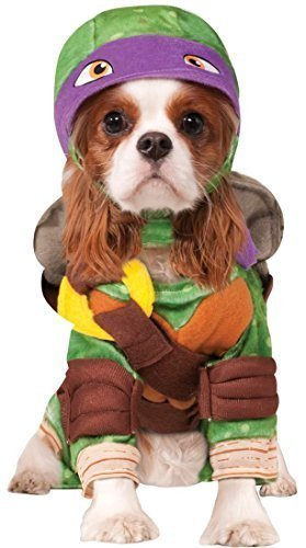 Haustier Hund Katze Teenage Mutant Ninja Turtles Halloween Film Cartoon Kostüm Kleid Outfit Kleidung Kleidung - Lila (Donatello), Small