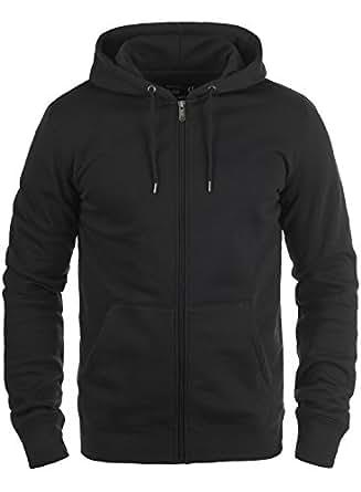 SOLID BertiZip Herren Sweatjacke Kapuzen-Jacke Zip-Hoodie aus hochwertiger Baumwollmischung, Größe:3XL, Farbe:Black (9000)