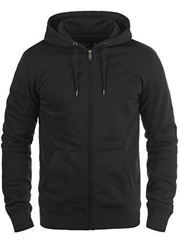 SOLID BertiZip Kapuzenjacke, Größe:L;Farbe:Black (9000) (Fleece Hoody Zip Jacke)