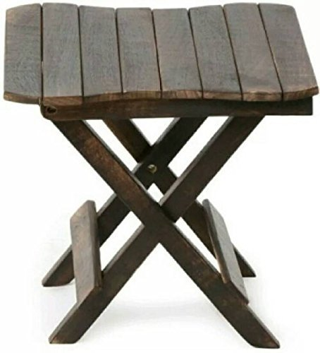Craftatoz Wooden Folding Table for Living Room,12x12x12 Inch (Black)