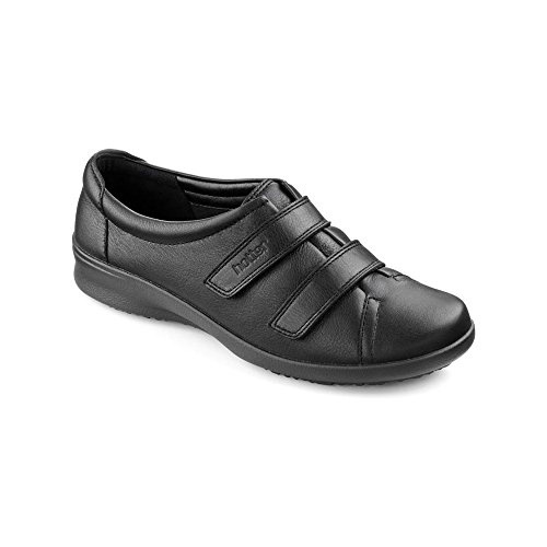 Hotter Leap Extra Extra Extra Wide - Black Womens Shoes 4.5 UK