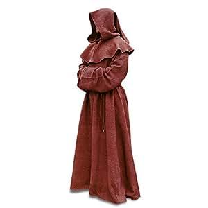 Costume médiéval de moine mystérieux