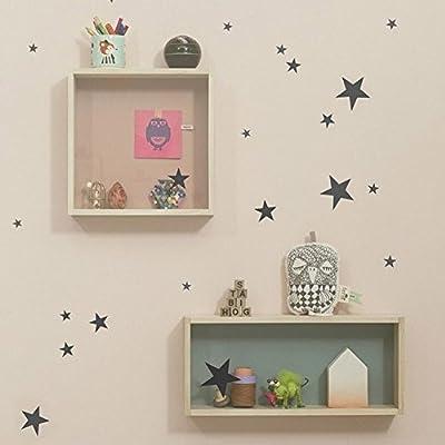 Ferm Living - Mini Stars Wallstickers, schwarz von Ferm Living - TapetenShop