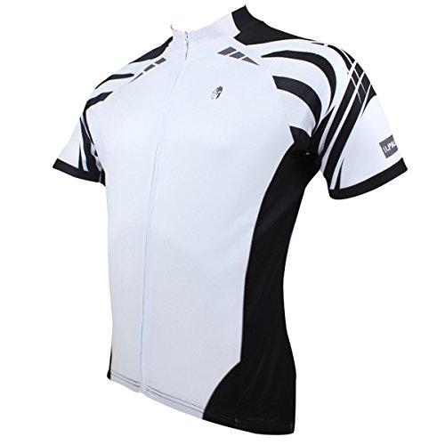 JenNiFer Herren Radsport Shirts Ärmel Jersey Motorrad Top Atmungsaktiv Schnelltrocknend T-Shirt - M