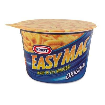 Easy Mac Macaroni & Cheese, Micro Cups, 2.05oz, 10/Carton