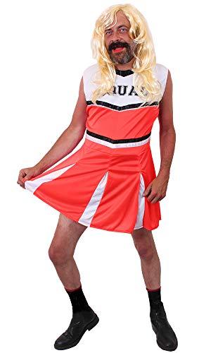 Kostüm Cheerleader Herren - ILOVEFANCYDRESS Junggesellenabschied + Polterabend Herren Cheerleader kostüm verkleidung mit perücke lustig Fasching - Karneval + sportveranstalltungen (XX-Large)
