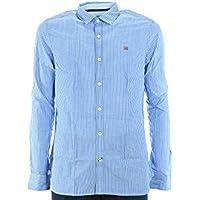 NAPAPIJRI El hombre camisa de manga larga N0YG6PS16 GULFPORT XL Celeste