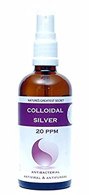 Premium Quality Colloidal Silver 20 ppm Spray 100ml High pH 9.0