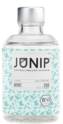 JUNIP Organics - natürliches Bio Aroma (Minze), 250 ml Flasche für 50 Gläser Wasser