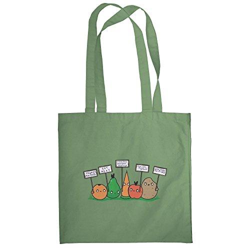 Texlab–Angry Plants–sacchetto di stoffa Oliva