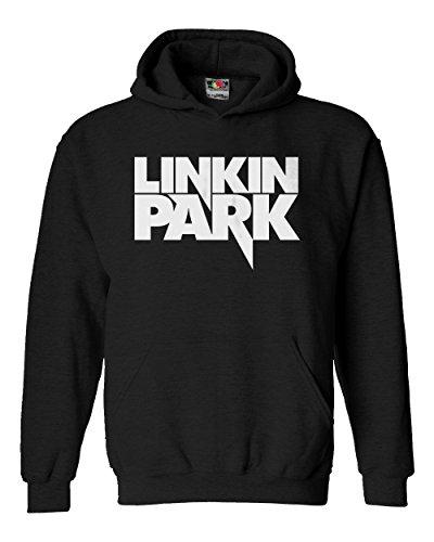 """Felpa Unisex """"Linkin Park""""- Felpa con cappuccio LaMAGLIERIA, XL, Nero"""