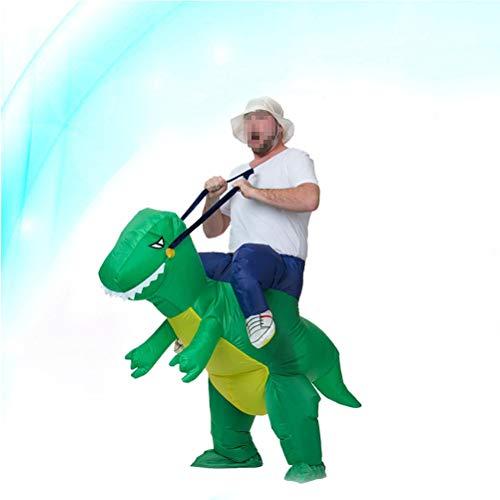 TOYANDONA Aufblasbares Dinosaurier-Reit-Spielzeug Halloween Cosplay Kostüm für