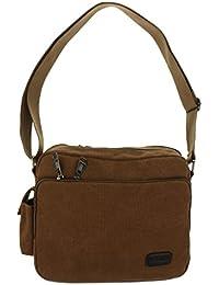 Generic Men's Shoulder Bag Retro Military Canvas Messenger Bag Hiking Camping Shoulder School Bag - 3 Colors