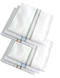 Indiacrafts High Quality Cotton Handkerchiefs Set of 6 Piece