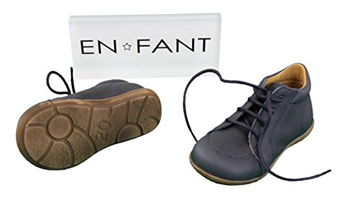 En-fant unisex bambini scarpe stringate primi passi, pelle, 814126U Blu