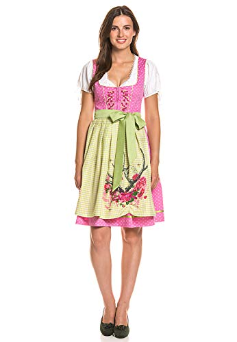 Stockerpoint Damen Kleid Midi Dirndl Knielang Trachten Oktoberfest Wiesn