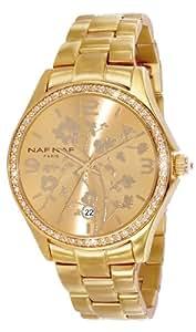 Naf Naf - N10024G-102 - Haruka - Montre Femme - Quartz Analogique - Cadran Doré - Bracelet Acier Doré