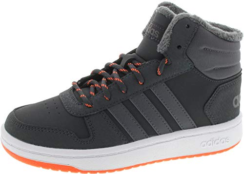 adidas Unisex-Kinder Hoops Mid 2.0 Basketballschuhe, Grau Carbon/Grefiv/Hireor, 32 EU