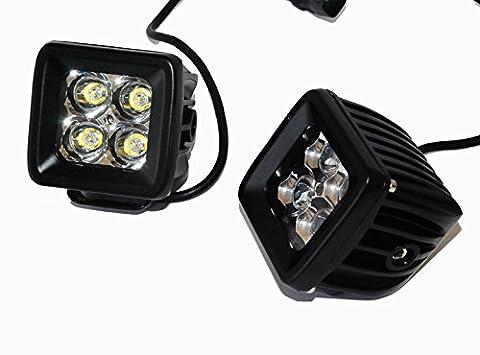 Pod Trail Spot 20W LED Lumières de brouillard pour moto ATV hors-route 3x 3Race Baja Truck XS