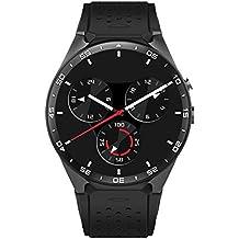 Miffen KW88 3G WIFI Smartwatch Celular All-in-One Bluetooth Smart Watch Android 5.1 Tarjeta SIM con GPS, cámara, monitor de ritmo cardíaco, Google Map, Google Play ( Color : Silver )