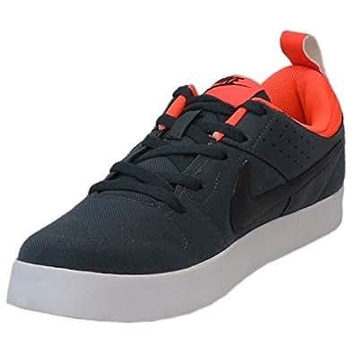 Nike Men's Liteforce Iii Classic Charcoal, Black and Orange Sneakers -6 UK/India (40 EU)(7 US)