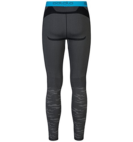 Odlo Evolution Tights Thermo Herren Odlo Concrete Grey - Black - Blue Jewel