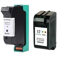 Prestige Cartridge HP 15 / HP 17 2 Cartucce d'Inchiostro Compatibile per Stampanti HP DeskJet Serie, Nero/Colore - Confronta prezzi