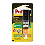 Pattex Power Epoxy Saldatutto Mix 5 minuti, forte colla epossidica bicomponente a elevata tenuta finale, colla multiuso adatta per quasi ogni materiale, trasparente, 1x28g