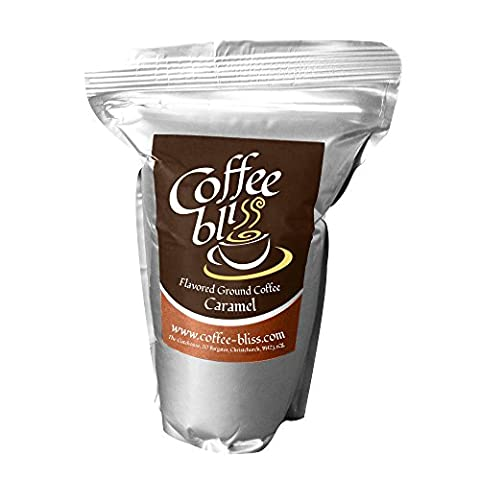 Caramel Ground Coffee Has A Delightful Blend Of Caramel And Deep Roast Coffee In A 200g Resealable Pack For The Freshest Coffee Every Time by Coffee Bliss