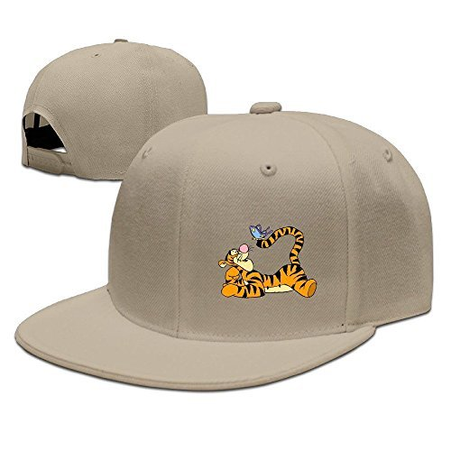 Hittings Adult Pooh Bear Tigger Butterfly Baseball Cap Hat Black Natural