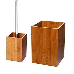 Juego de accesorios de baño bambú