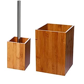41YfR4pLbEL. SS324  - Juego de accesorios de baño bambú