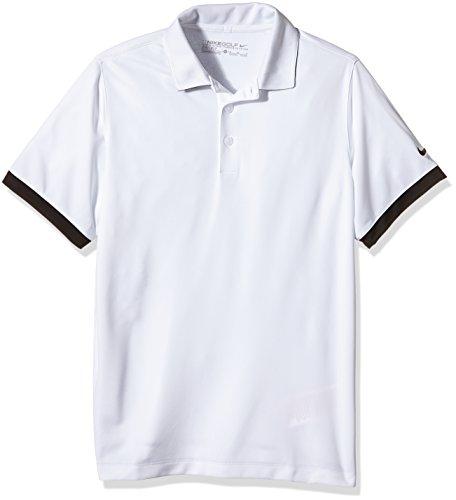 Nike Icon–Polo pour enfant blanc/noir