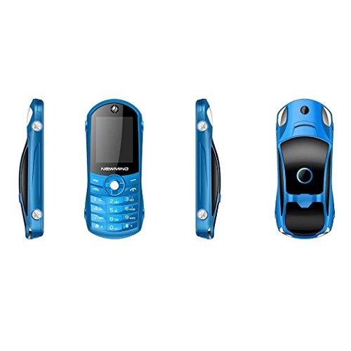 Y56 Block-Handy Outdoor Dual SIM GSM Mobiltelefon Persönlichkeit Kinder Sport Auto Handy Student Kleine Bluetooth MP3 Handy Kamera Dual-SIM-Karten GSM Handy (Blau) Bluetooth-quad-band-mp3-player