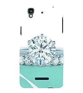Diamond Ring 3D Hard Polycarbonate Designer Back Case Cover for YU Yureka Plus :: Yu Yureka PlusYU5510A