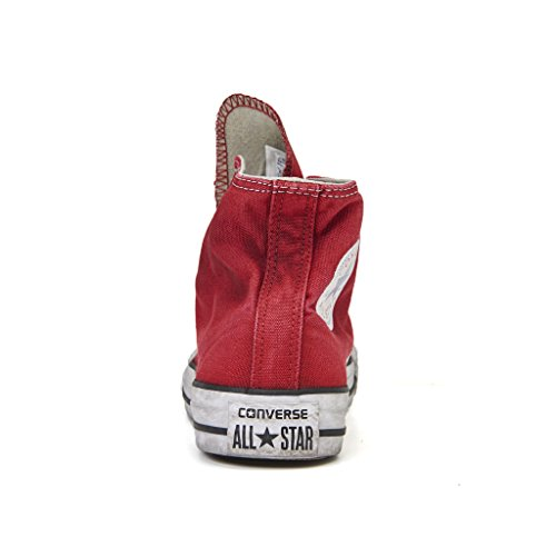 Converse, Unisex adulto, Chuck Taylor All Star High Canvas LTD Red Smoke In, Tela, Sneakers Alte, Rosso ROSSO BORDEAUX