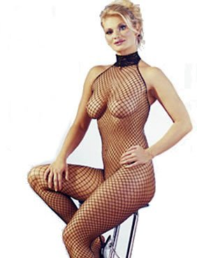 Mandy Mystery lingerie Netzcatsuit schwarz