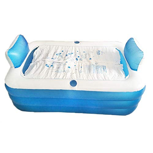 A~LICE&YGG Aufblasbare Badewanne Double Adult Portable Komfortable Massage Whirlpool Barrel Large Folding Home Warm Tub