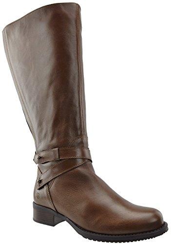 JJ Footwear Damen Stiefel Leder Buxton XL Cognac Street