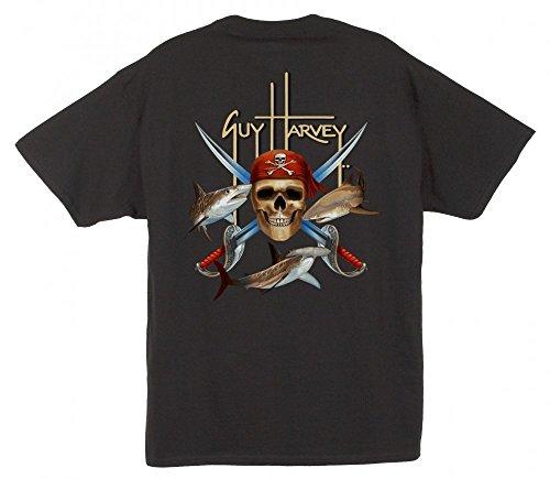 Guy Harvey sixtion Pirat Shark T-Shirt XXXL Black,XXX-Large (Guy Harvey-t-shirt)
