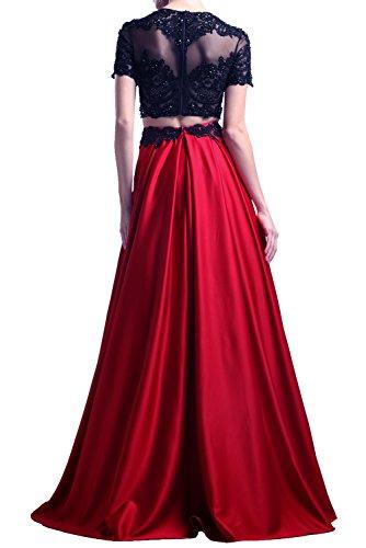 Milano Bride Elegant Rot Abendkleider Partykleider Promkleider Cocktailkleider Bodenlang Rot