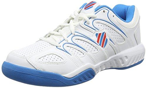 K-Swiss Calabasas Omni - Zapatillas para Hombre, Blanco/Azul (HYL BLUE/FIERY RED), 45