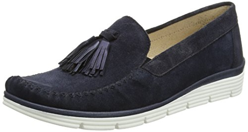 Gabor Shoes Comfort, Mocassini Donna Blu (ocean 46)