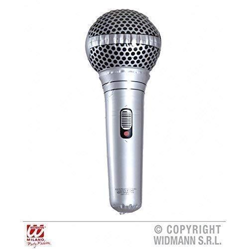 Kostüm Mikrofon - Lively Moments Aufblasbares Mikrofon / Mikrophon ca. 25 cm für Sänger / Kostümzubehör Zum Fasching / Karneval