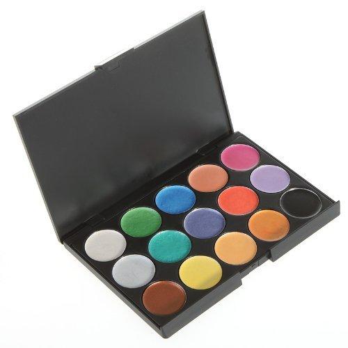 Anself 15 Couleurs Waterproof Fard à paupières ombre à paupière étanche Palette de maquillage Set cosmétique