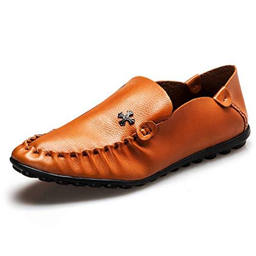 XI-GUA Business Schuhe für Herren ohne Spitze weiche Leder Low-Man-arbeitsschuh bei Freizeit Light komfortabel Schuhe 41