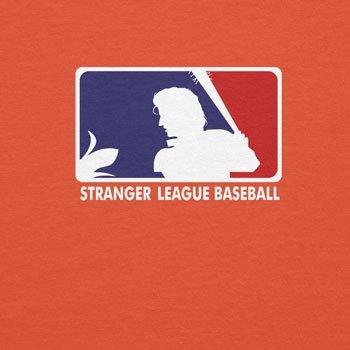 Planet Nerd Stranger League Baseball - Herren T-Shirt Orange
